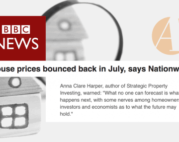 Anna featured in BBC News' July house price article