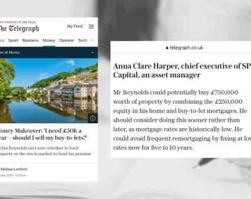 SPI Capital advises Telegraph reader in their Money Makeover feature