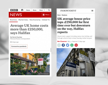 Anna comments in press on latest Halifax house price data