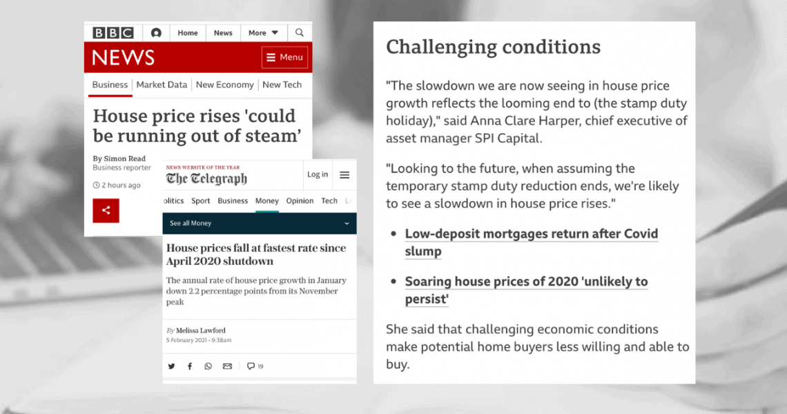 BBC News & The Telegraph feature Anna's comments on UK house prices