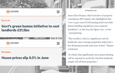 FT Adviser shared my comments on two interesting news stories this week:  1. House price growth is cooling off 2. The government