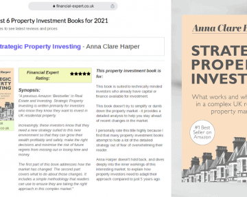 Anna's book listed in Financial Expert's 'Best 6 property investment books for 2021'