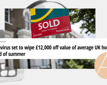 Coronavirus set to wipe £12,000 off value of average UK house by the end of summer: Anna's commentary featured in Mirror's Money article
