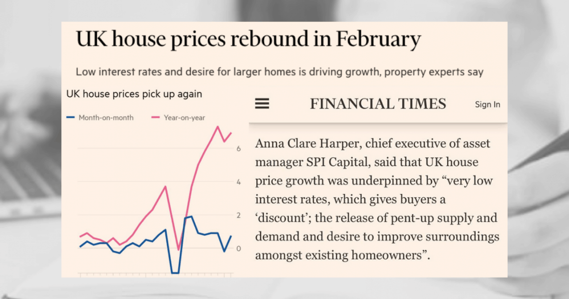 Thanks to Financial Times, BBC News and Property Reporter for sharing my thoughts on the latest house price data from Nationwide  showing a surprise increase in house prices in February. 