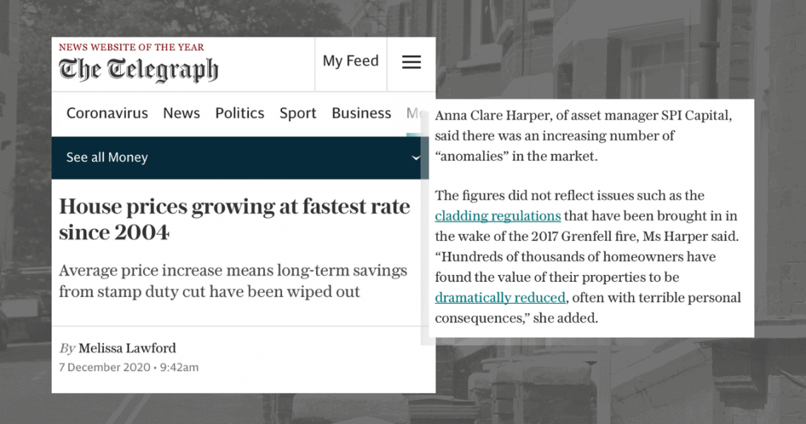 Thanks to The Telegraph for publishing my comments on the latest House Price data released by Halifax.