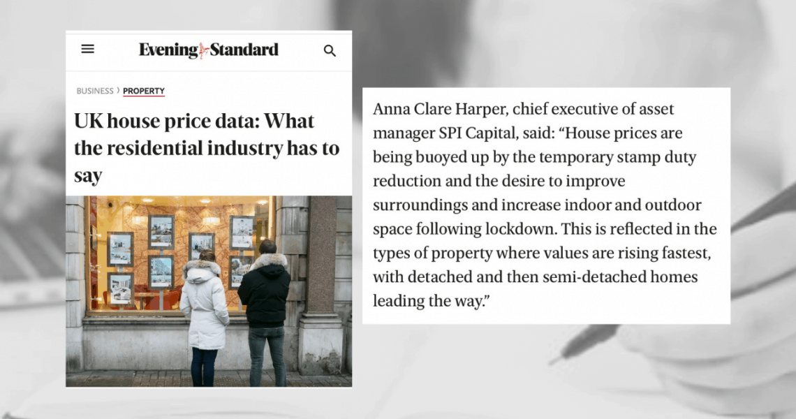 Evening Standard features Anna's comments on the UK property market