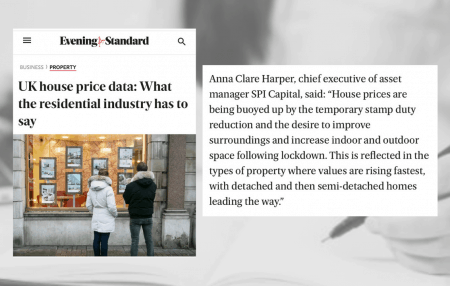 ThanksEvening Standardfor sharing my thoughts on the latest data:  According toNationwide, house price growth rose to 7.3% in December, the highest rate in 6 years.  This will certainly feel like positive news for homeowners, despite negative news elsewhere, such as the 'virulent new strain' of Covid-19 that is keeping so much of the UK indoors.