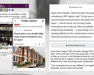 Latest house price data – Anna's comments featured in This is Money & Evening Standard