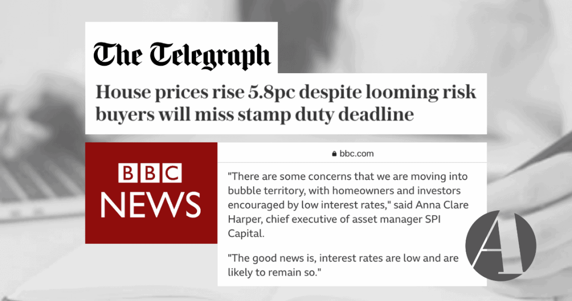 Latest house price data released: Anna comments in BBC News & The Telegraph