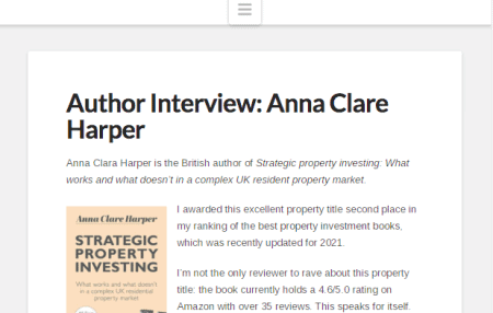 I was the interviewee rather than interviewer, for a change when sharing my thoughts with Financial Expert, including:  Why property remains a great investment, but the old ways are broken How publishing my first book inspired my business, and What Warren Buffet would say about where to invest in UK property (in my opinion!)