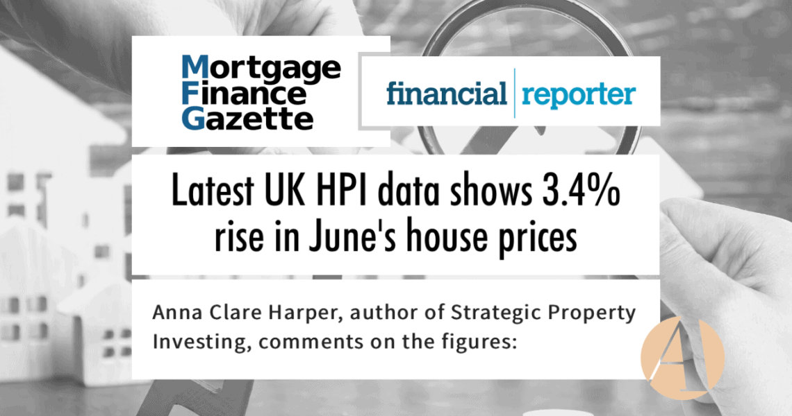 Anna featured in press on latest House Price Index data release