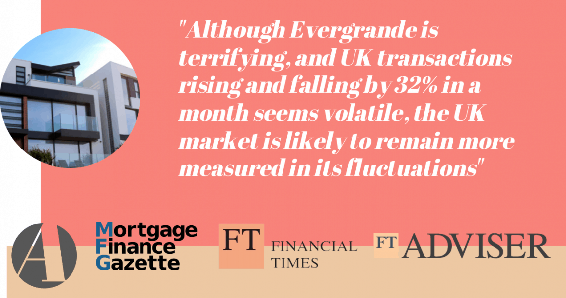 It's been an interesting week for the property market, with the latest data showing UK housing transactions were up by 20% in August and the #Evergrande crisis in China raising concerns about the use of debt in some parts of the real estate market. Thanks to the Financial Times, Mortgage Strategy, Property Reporter, Mortgage Finance […]