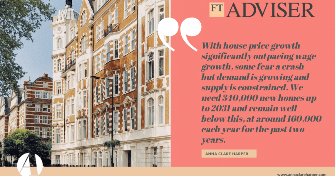 FT Adviser shares Anna's comments on house prices and the current market
