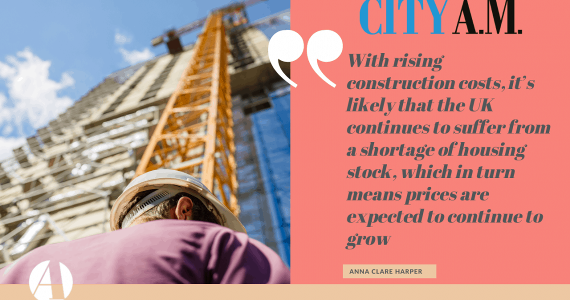 Thanks to City AM for sharing my thoughts on a key driver of house prices in the coming years. Construction projects are suffering from a barrage of issues. In the last 18 months, lockdown has inspired a huge rise in homeowners' desire to upgrade their surroundings through refurbishments and extensions. Meanwhile, Brexit- and Covid-related supply […]